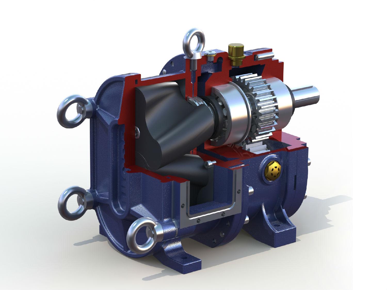 全橡胶包覆转子的凸轮转子泵