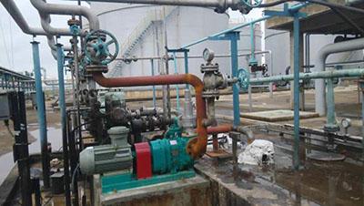 广西北海炼化有限公司采购的罗德污油污泥提升泵安装完毕
