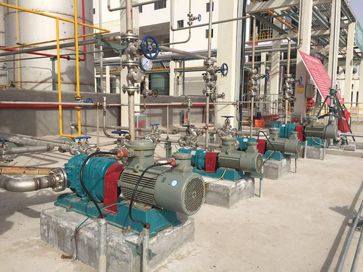 菏泽转子泵应用---中海亚化学溶液提升泵