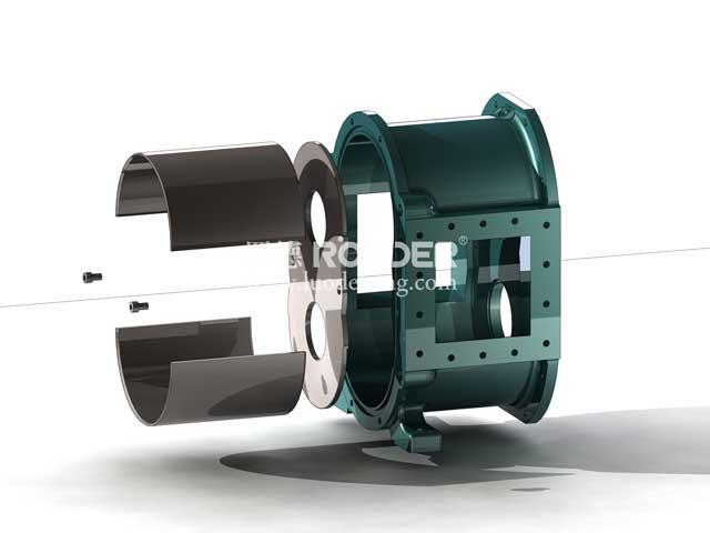 罗德凸轮转子泵保护衬板结构