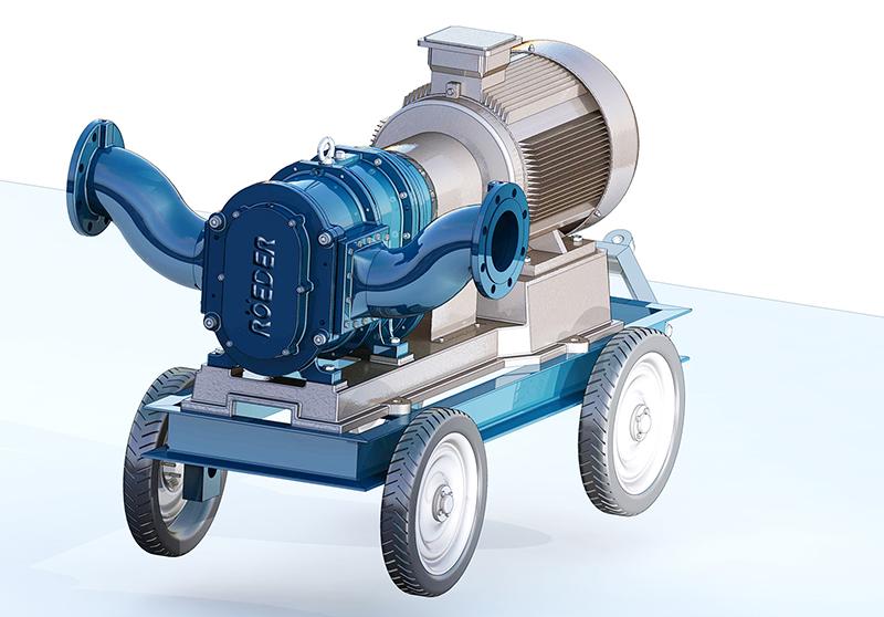 罗德手推式移动泵车