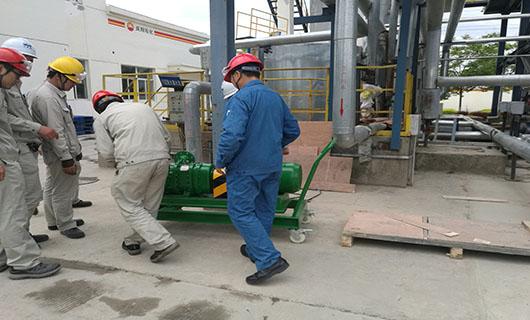 罗德移动式罐底污油扫仓泵