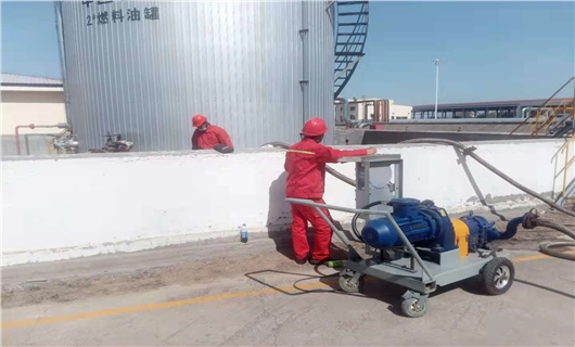 移动式罐底油泥清罐泵